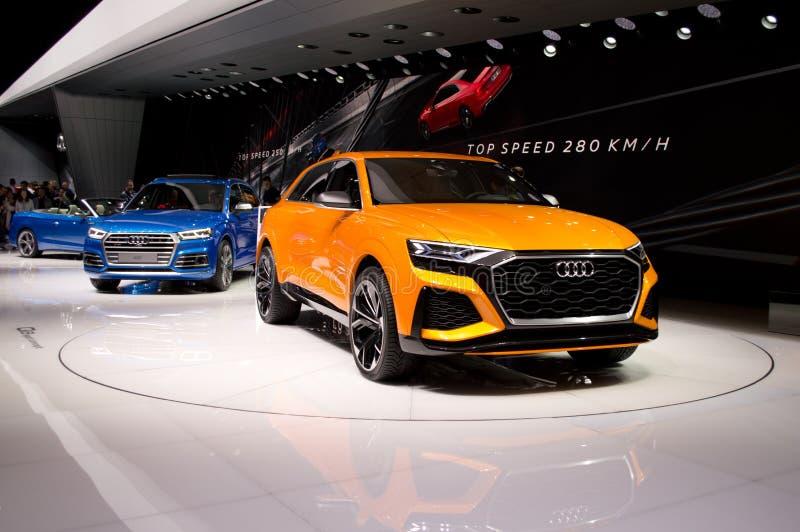 Audi Q8 at Geneva 2017 royalty free stock photos