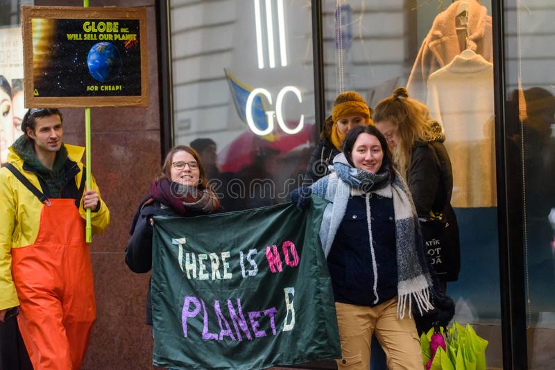 4th Global Climate strike and Black Friday protest in Riga, Latvia stock images