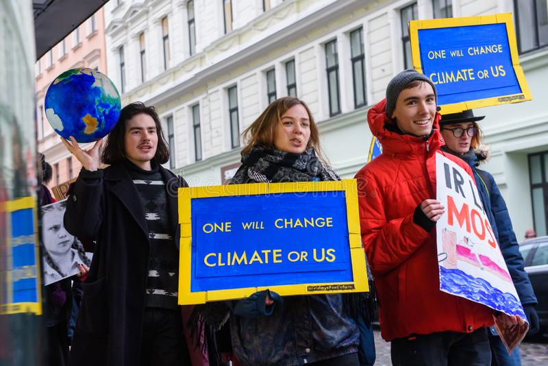 4th Global Climate strike and Black Friday protest in Riga, Latvia stock photos
