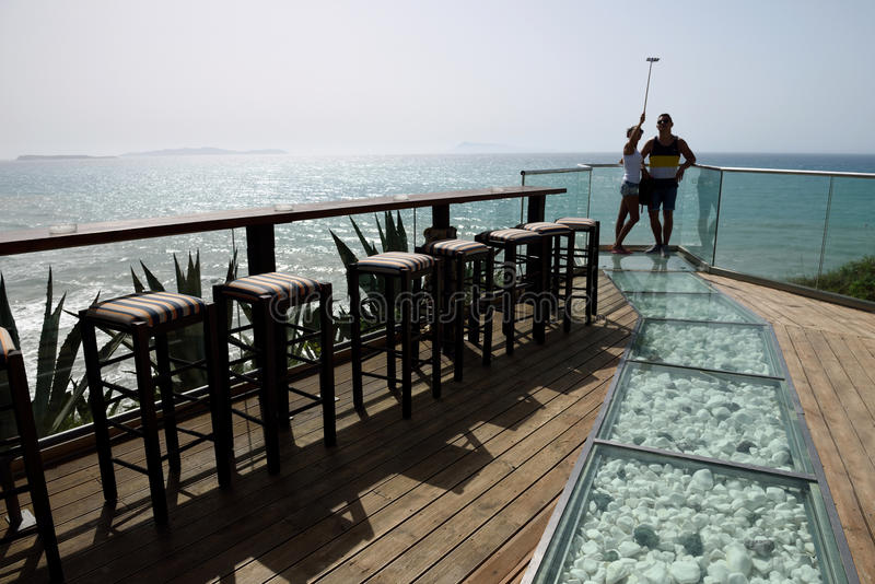 7th Heaven Cafe, Corfu, Greece stock photos