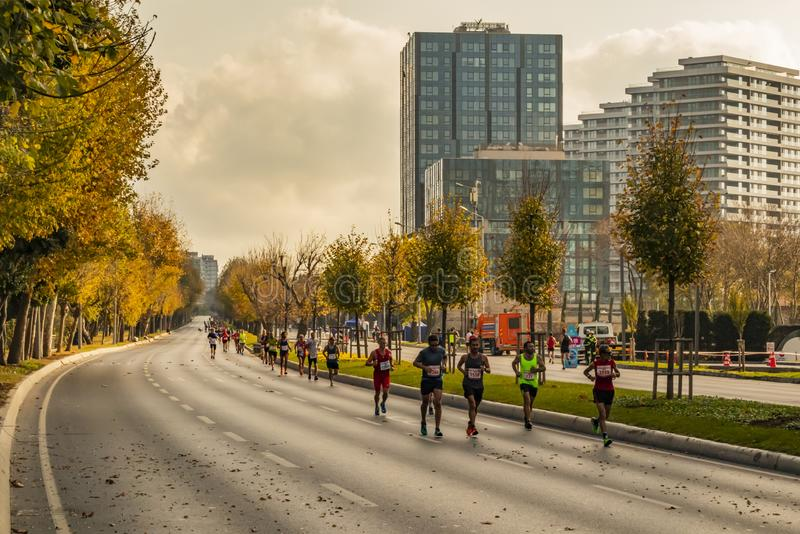 40th internationella istanbul maraton och idrottsman nen royaltyfria foton