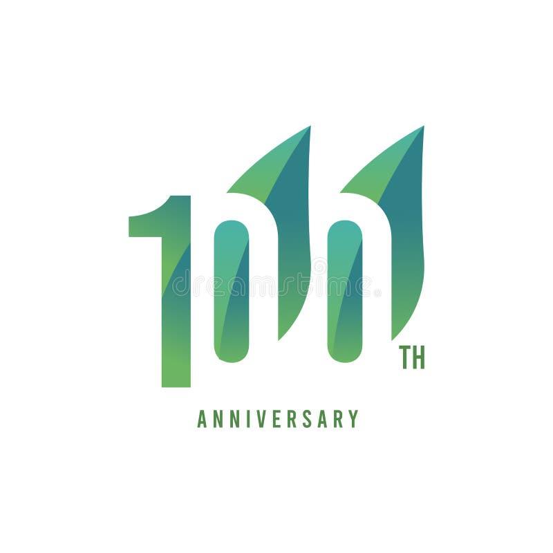 Th 100 Jahrestag Logo Vector Template Design Illustration vektor abbildung