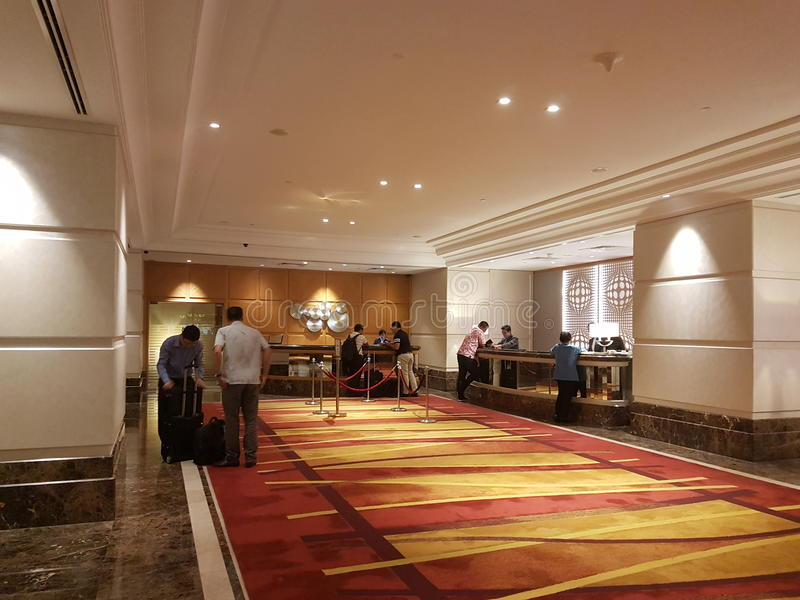 15th jan 2017, Kuala Lumpur.In look of Hotel Sunway Putrael Sunway. Inlook design of Hotel design at Sunway Putra Hotel stock photography