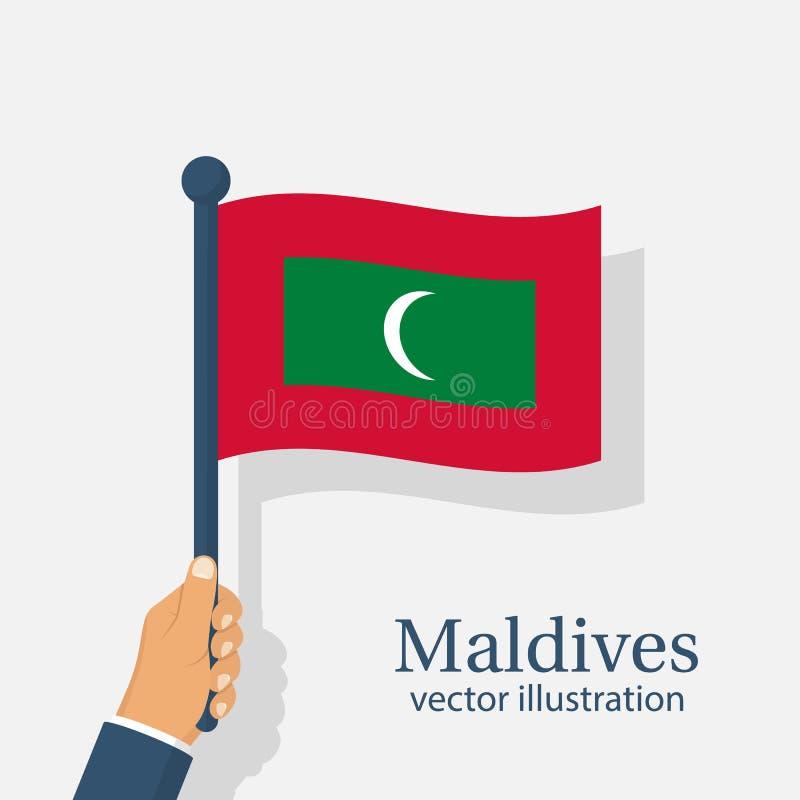 Th Juli för Maldiverna självständighetsdagen 26 royaltyfri illustrationer