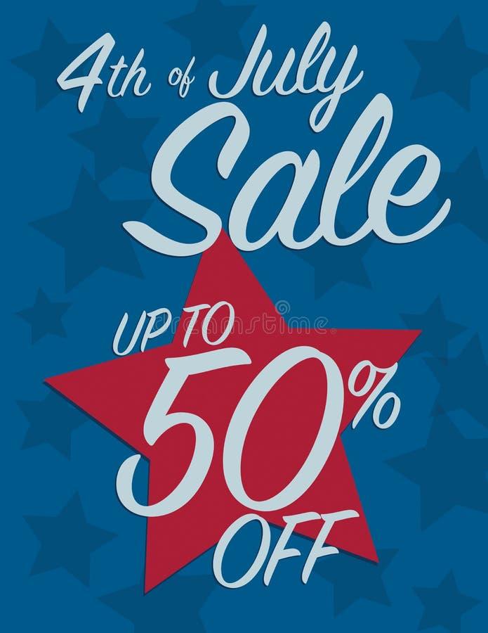4th Juli Sale stock illustrationer