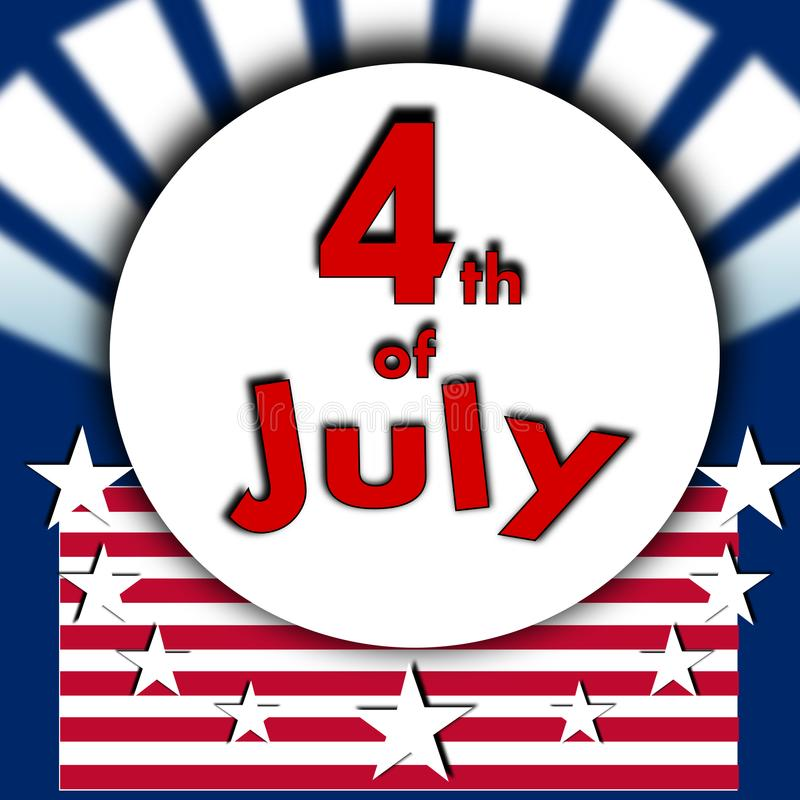 The 4th of july. American independence day the fourth of july background vector illustration