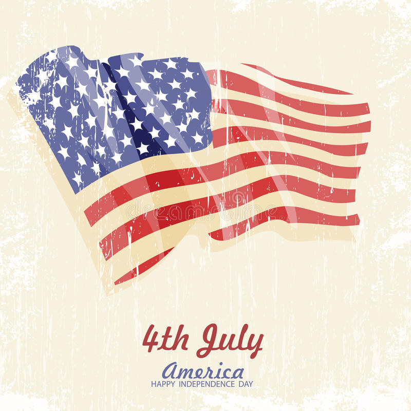 4th of july American independence day vector illustration