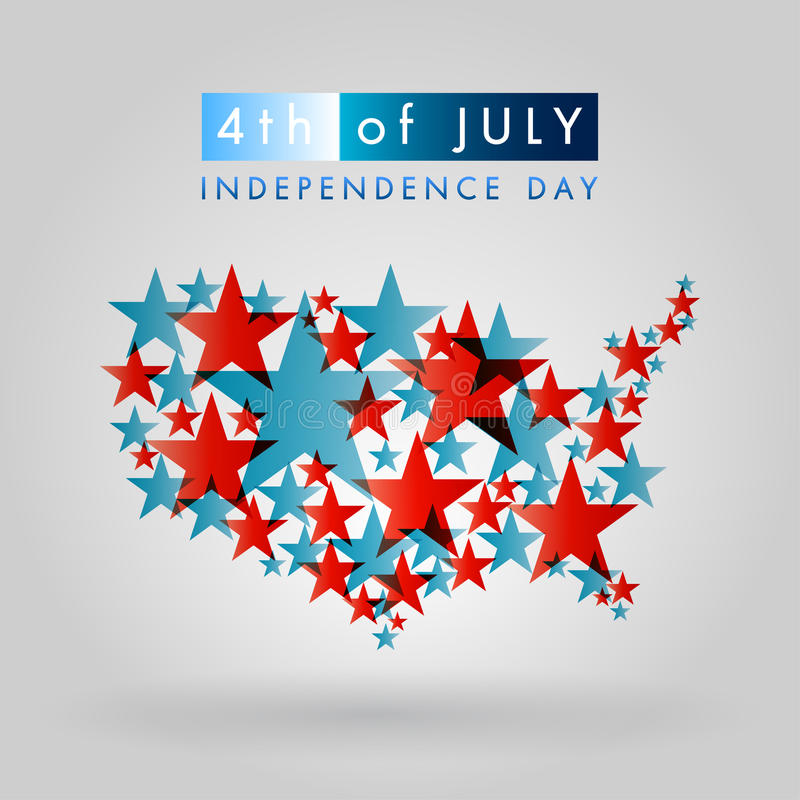 4th of July. American independence day vector royalty free illustration