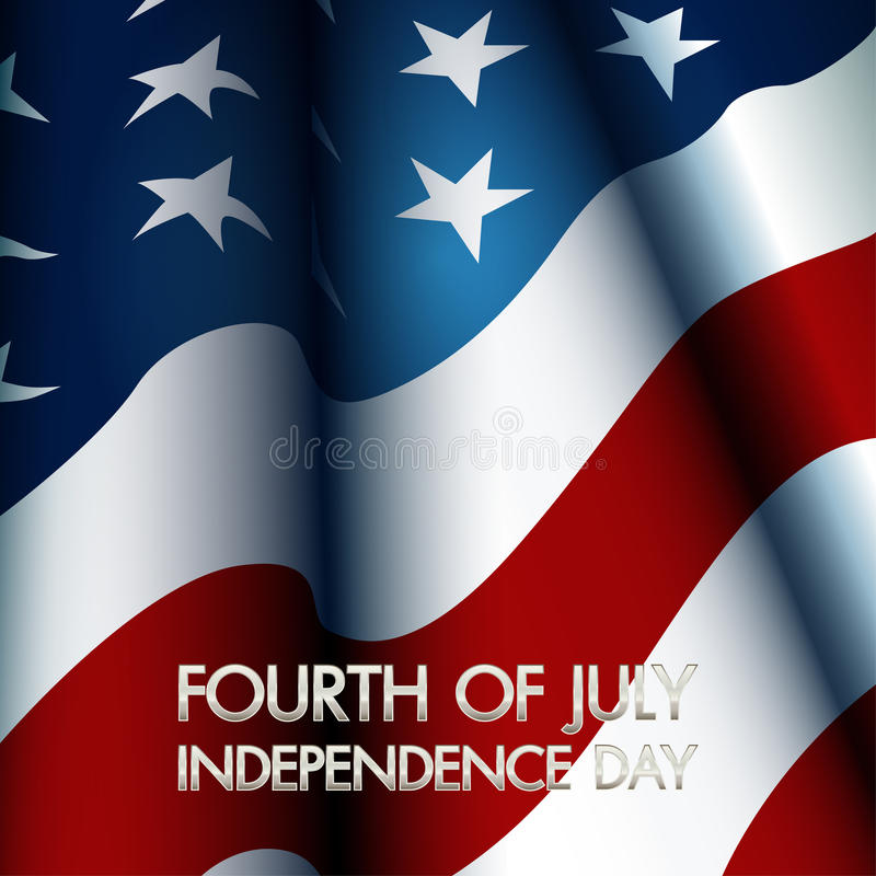 4th of July. American independence day vector stock illustration