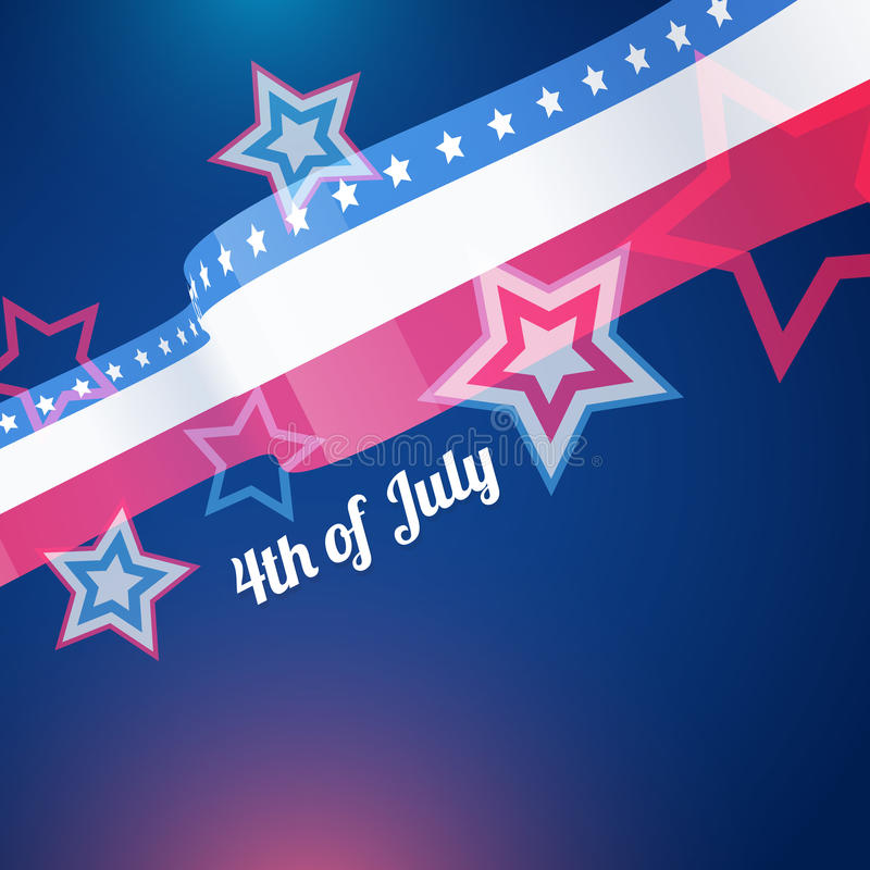 4th of july background royalty free illustration