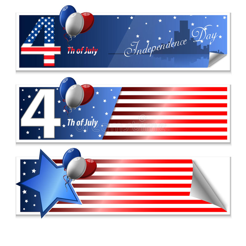 4 th july cards. On background royalty free illustration
