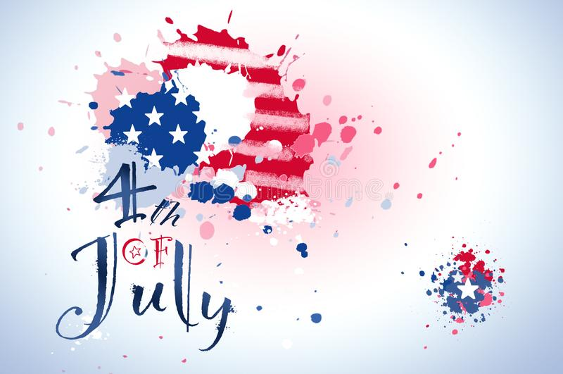 4th of July. Celebrate 4th of July, Independence day stock illustration