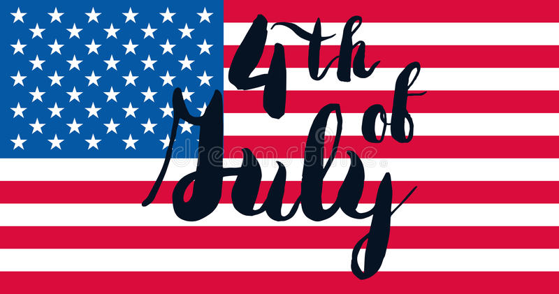 4th July Day. 4th July USA Independence Day Celebration Banner. National American Greeting. Vector vector illustration