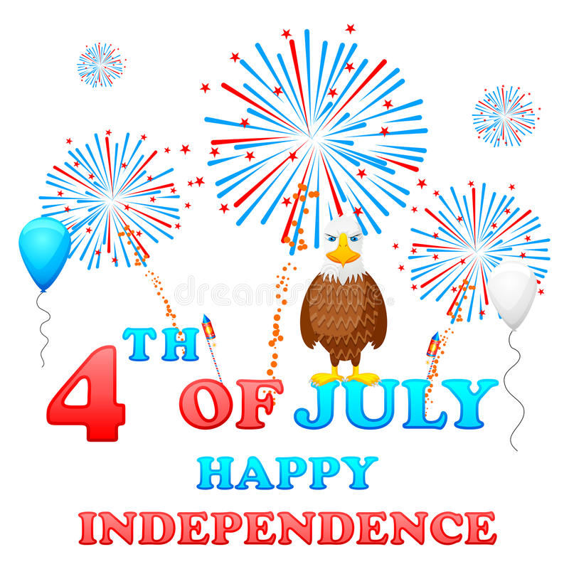 4th of July. Easy to edit vector illustration of 4th of July background vector illustration