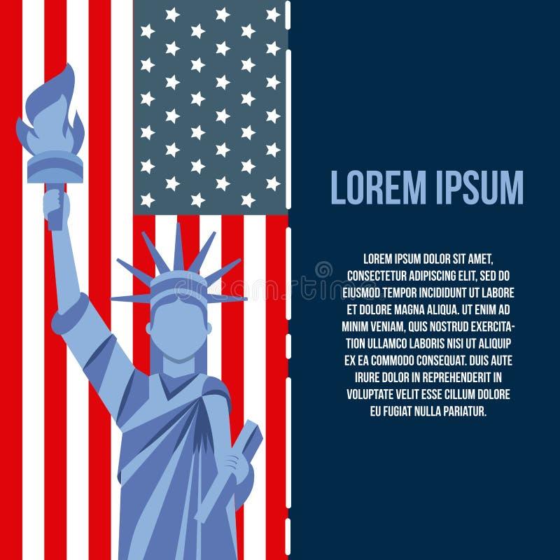 4th of july emblem image stock illustration