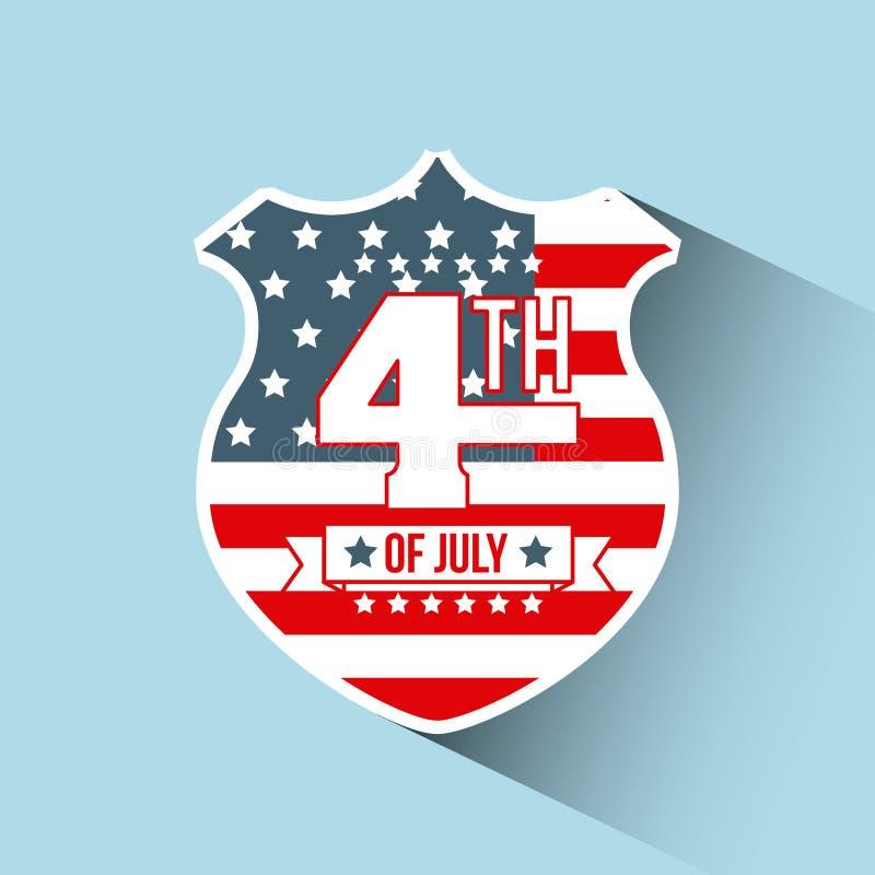 4th of july emblem image royalty free illustration