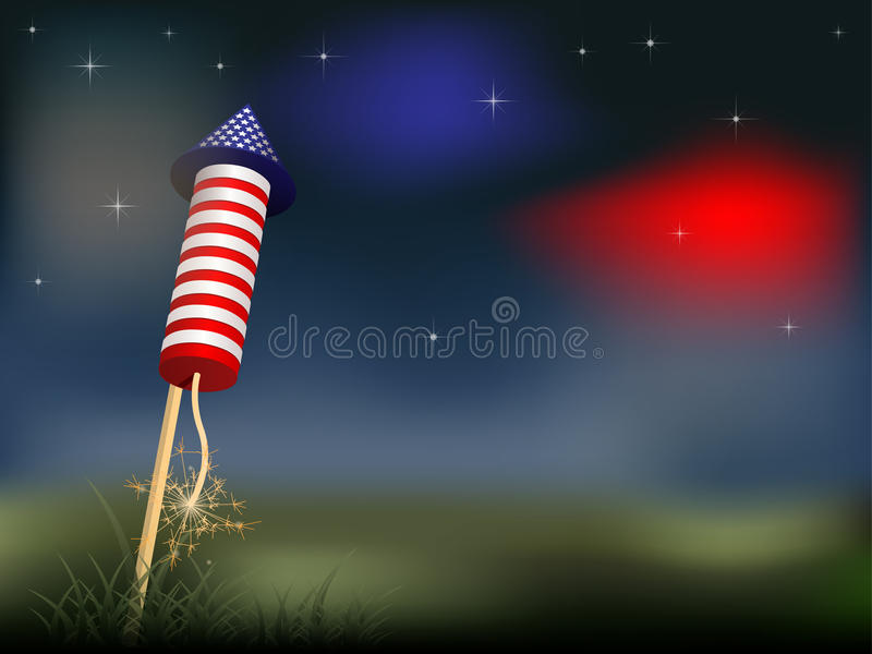 4th of July. Firework - illustration vector illustration