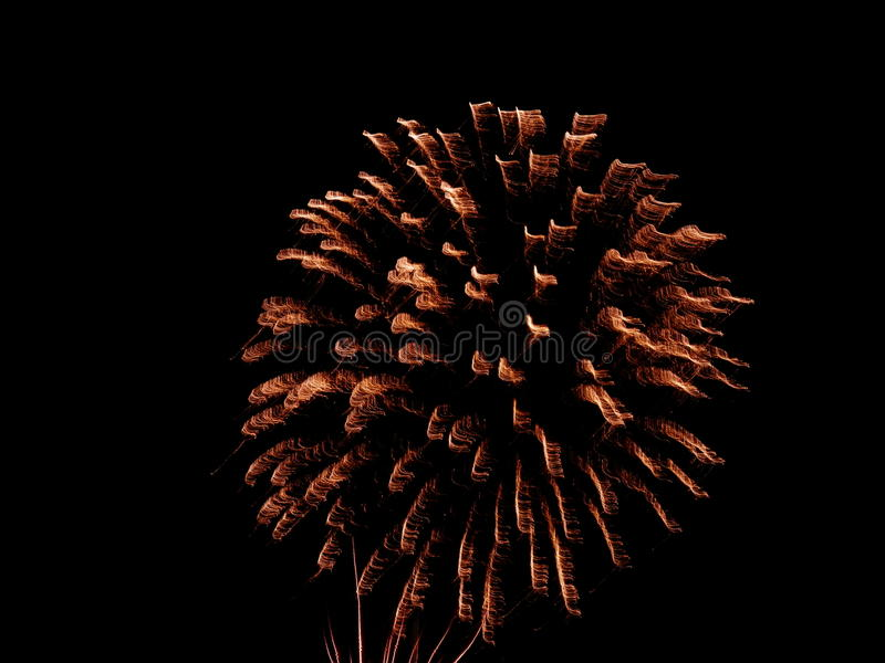 4th of july fireworks on a hot summer night royalty free stock images