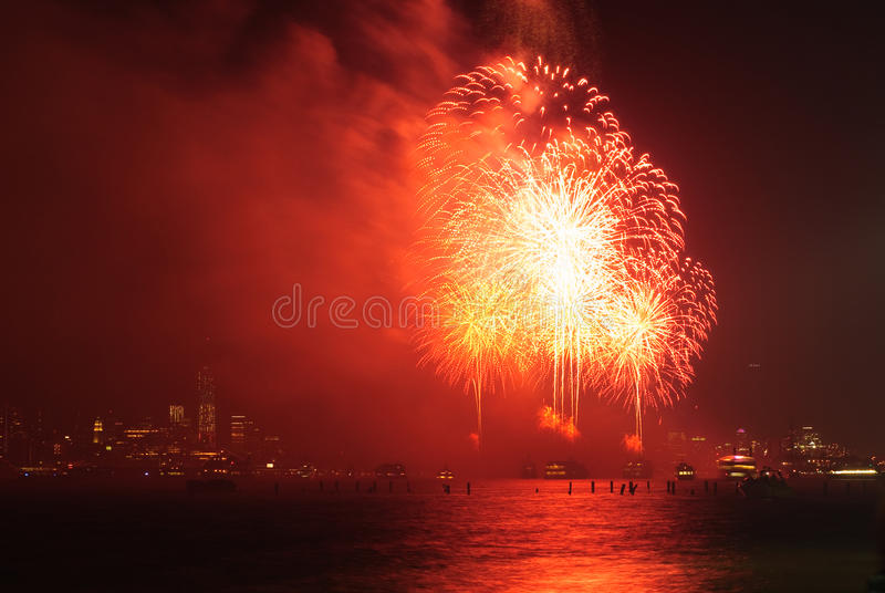 Download 4th Of July Fireworks In New York Editorial Photo - Image: 42455756