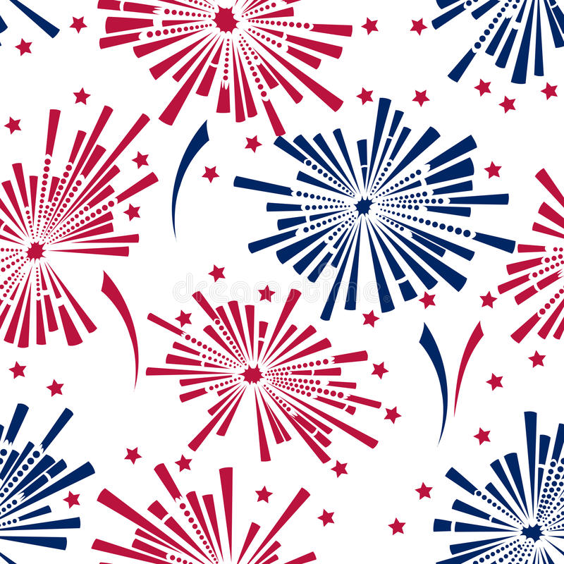 4th of july fireworks seamless pattern royalty free illustration