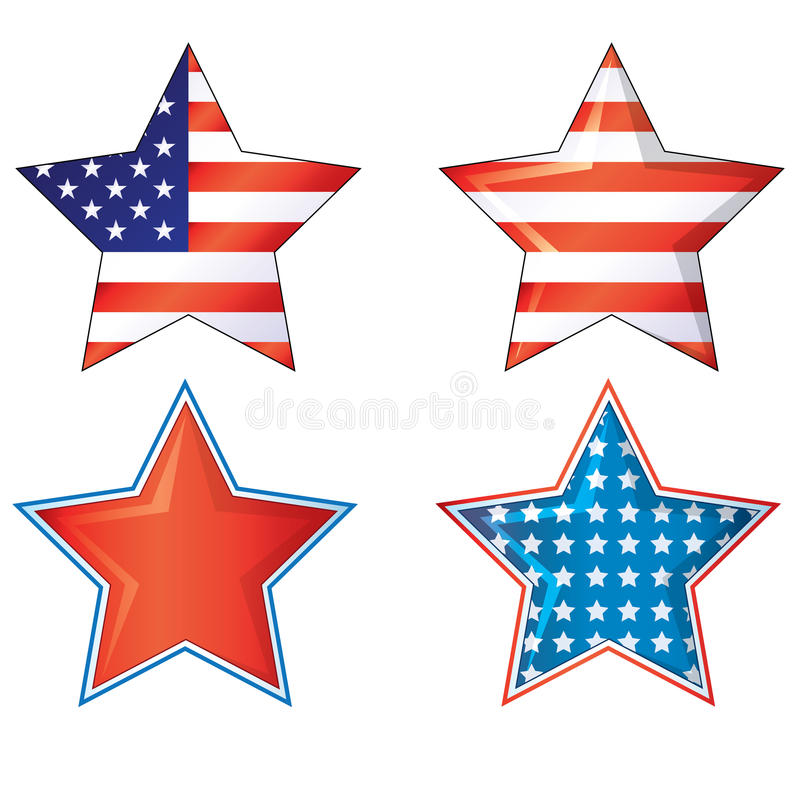 4th of july fourth stars American flags vector eps ai jpg 4th Julys Stars and stripes vector illustration