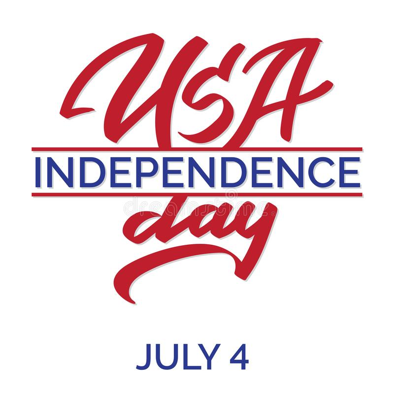 4th of July. Happy Independence day vector royalty free illustration