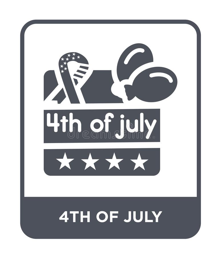 4th of july icon in trendy design style. 4th of july icon isolated on white background. 4th of july vector icon simple and modern. Flat symbol for web site royalty free illustration