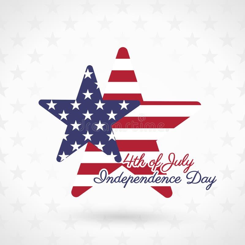 4th of July. Illustration, American Independence Day celebration stock illustration