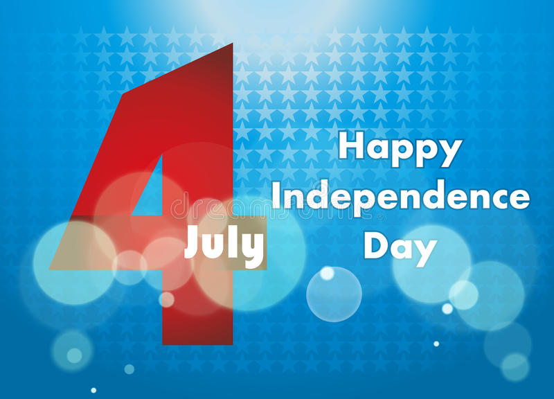 4th of July illustration, American Independence Day celebration. stock photography