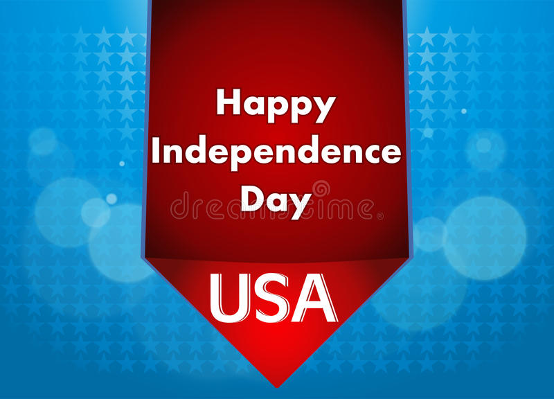 4th of July illustration, American Independence Day celebration. stock photo