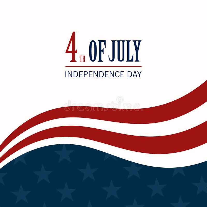 4th of July. Illustration of a 4th of July Independence Day Background vector illustration