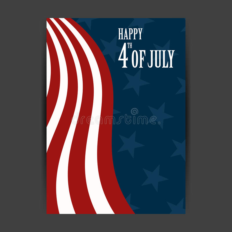 4th of July. Illustration of a 4th of July Independence Day Background royalty free illustration