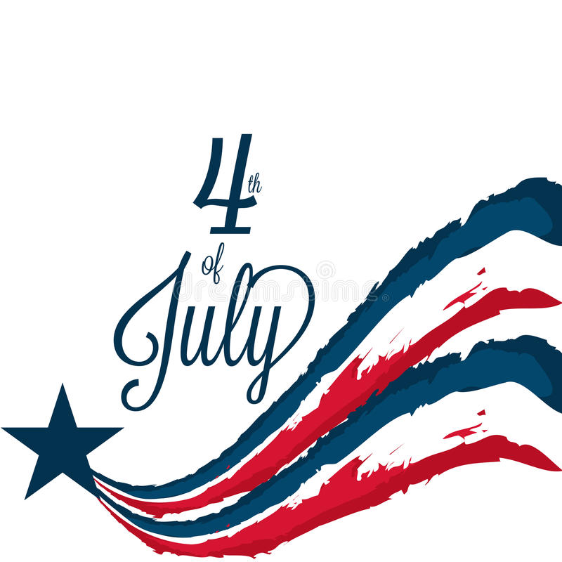 4th of July. Illustrator of a background for 4th of July stock illustration