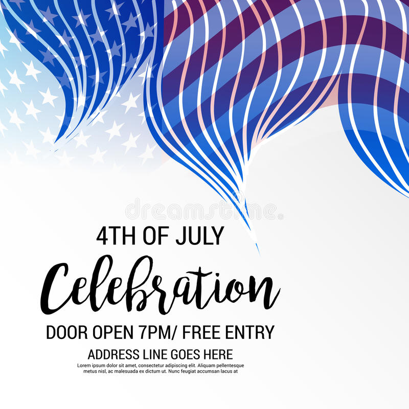 4th of July independence day. Illustration of a Banner for 4th of July independence day vector illustration