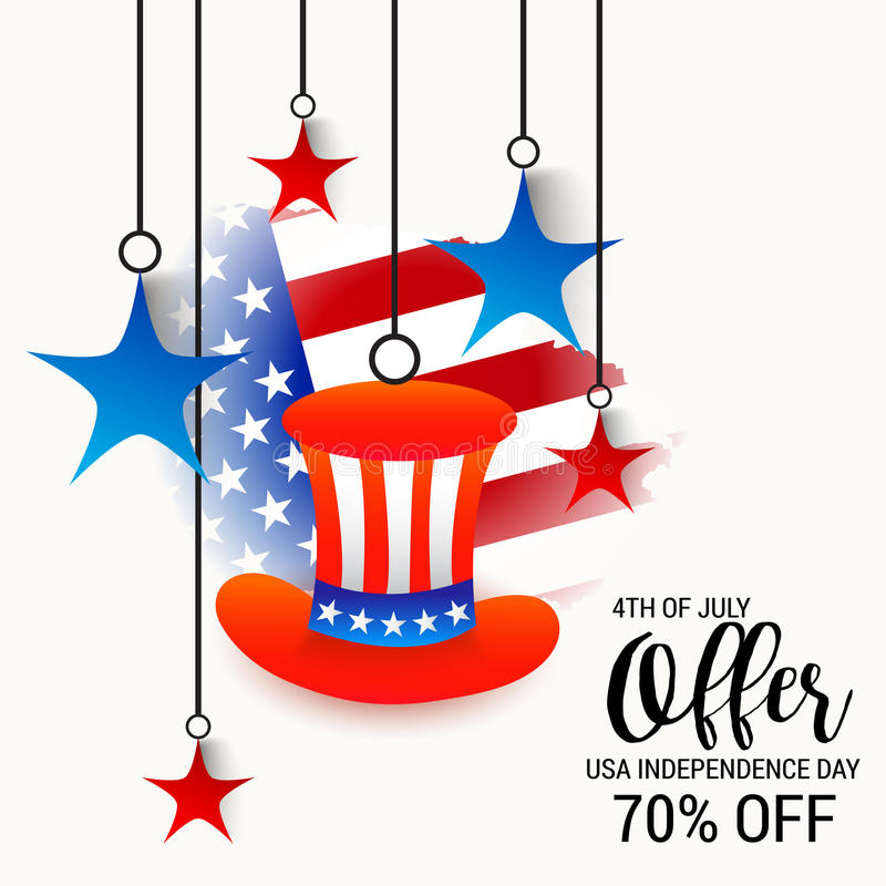 4th of July independence day. vector illustration
