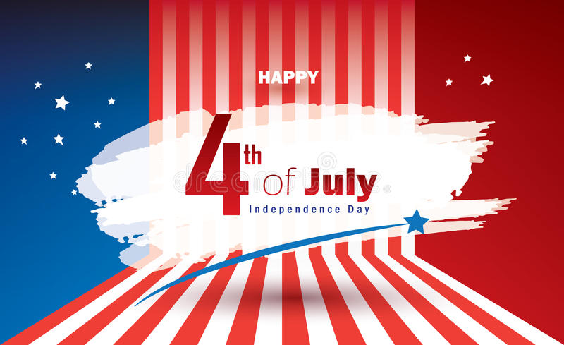 4th of July independence day Patriotic banner royalty free illustration