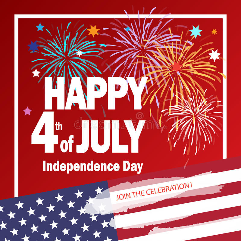 4th of July independence day Patriotic poster vector illustration