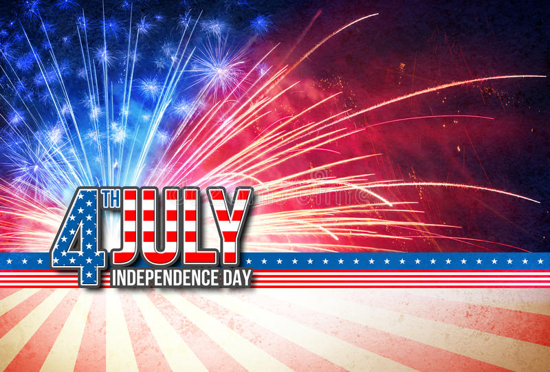 4th Of July - Independence Day Retro Card royalty free stock photography