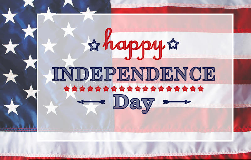 4th of July message royalty free stock photography