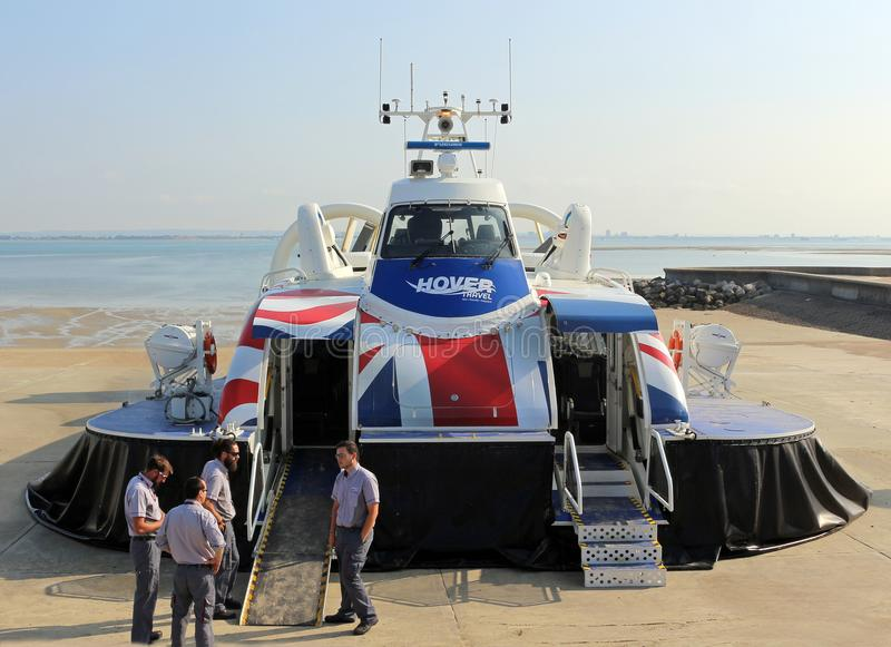 Isle of Wight Hovercraft stock photography