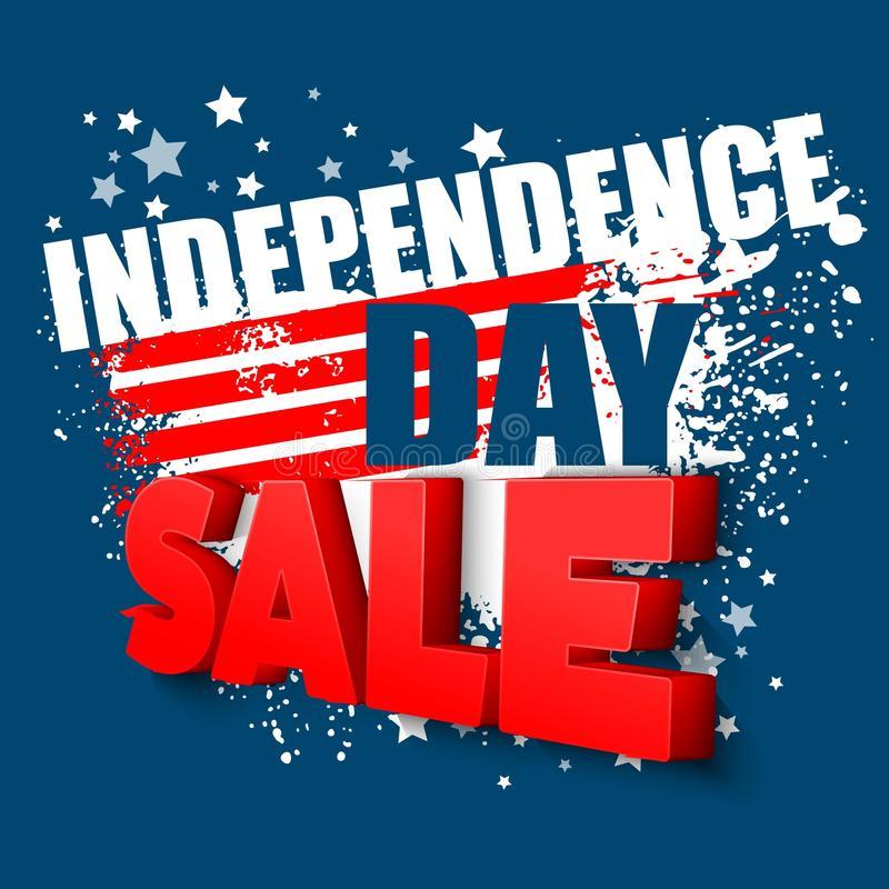 4th of july sale vector background. EPS 10 royalty free illustration
