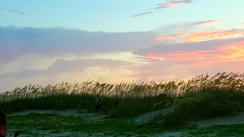 4th of July sunset stock photography