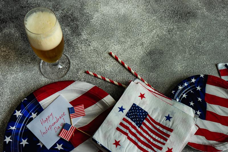 4th July table setting royalty free stock photography