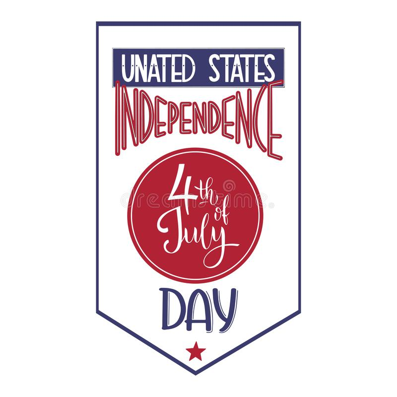 4th of July. USA independence day. Vector elements for invitations, posters, greeting cards. T-shirt design vector illustration