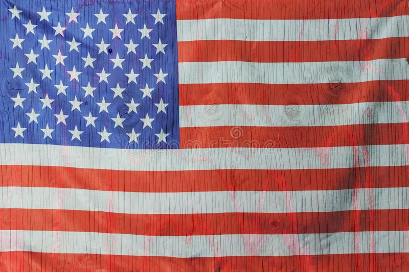 4th of July, the US Independence Day, Copy space, Background, American flag, United States of America royalty free stock images