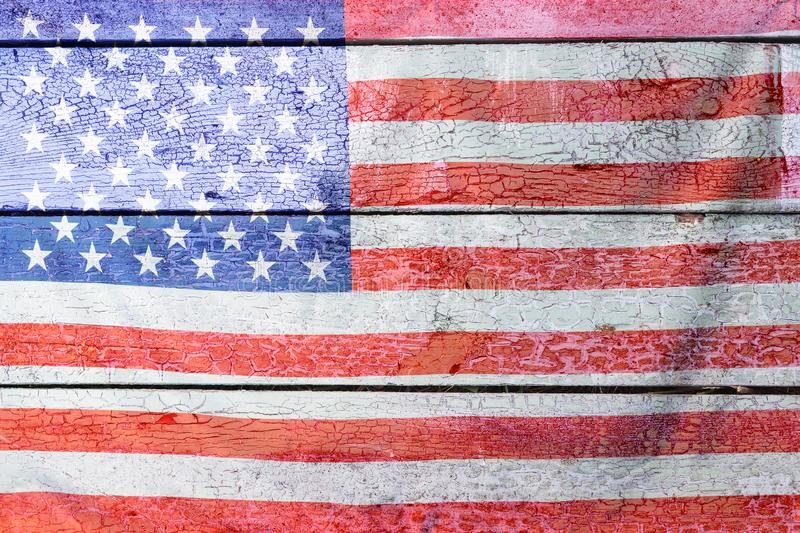 4th of July, the US Independence Day, Copy space, Background, American flag, United States of America royalty free stock photos