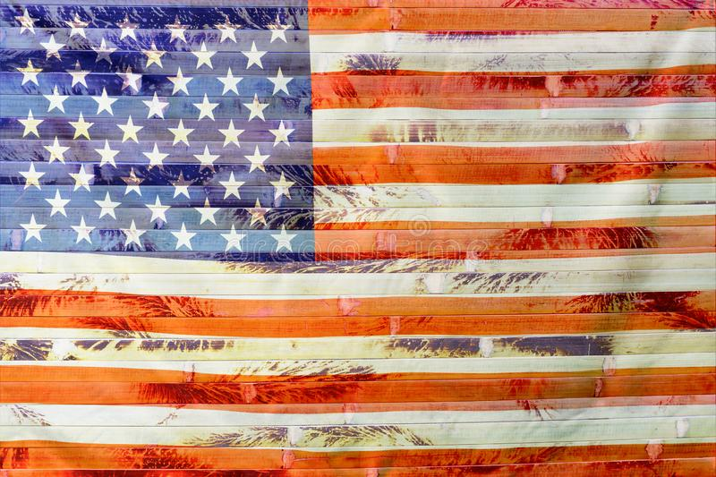 4th of July, the US Independence Day, Copy space, Background, American flag, United States of America stock photo