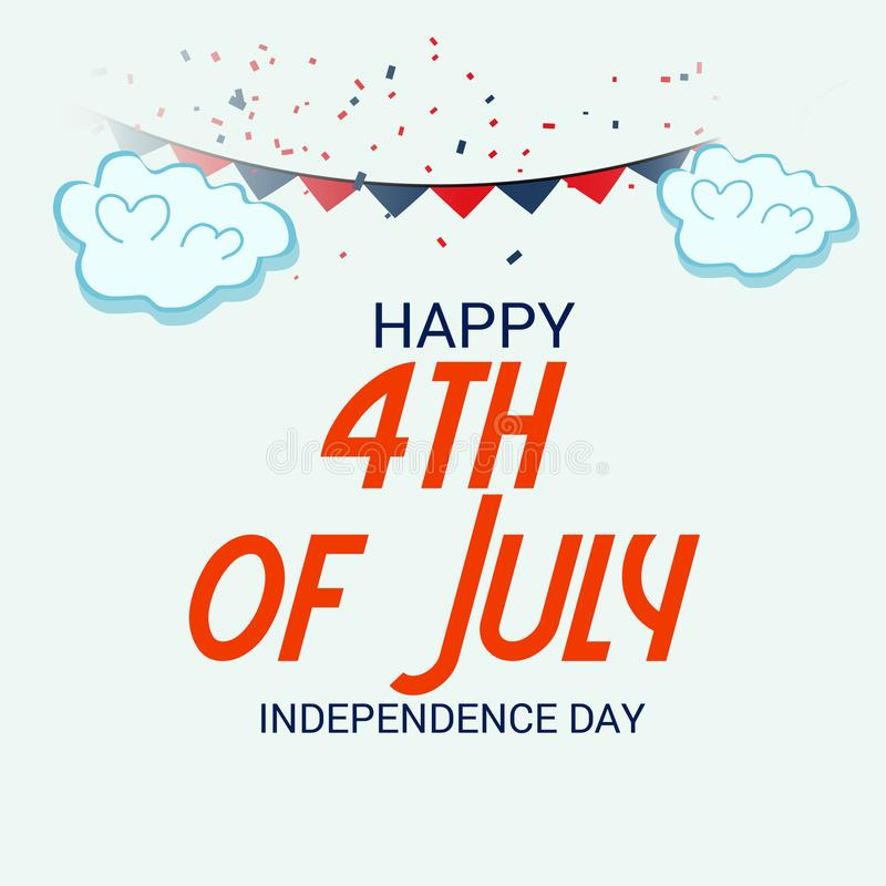 4th of July USA Independence Day. royalty free illustration
