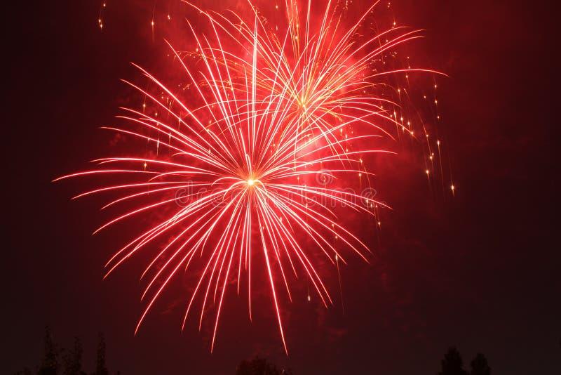 4th Lipów fajerwerki w Eagle punkcie, Oregon obrazy royalty free