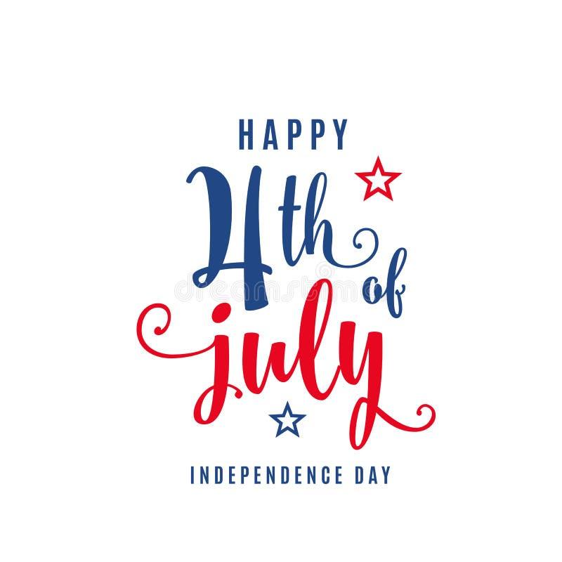 4th Lipa świętowania wakacje sztandar USA dnia niepodległości plakat dla powitania, sprzedaży pojęcia projekt ilustracja wektor